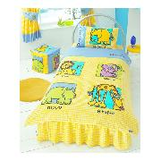 Animals Duvet Cover and Pillowcase Yellow Bedding