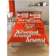 Arsenal Fc Shadow Crest Duvet Cover and Pillowcase Double Bedding