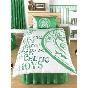 Celtic Fc Duvet Cover and Pillowcase 'Bhoys' Design Bedding