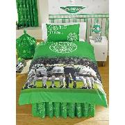 Celtic Fc Duvet Cover and Pillowcase 'The Huddle' Design Bedding
