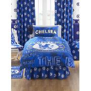 Chelsea Fc Valance Sheet 'Crest' Design Fitted