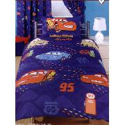 Disney Cars Duvet Cover and Pillowcase 'Racing Track' Design Bedding