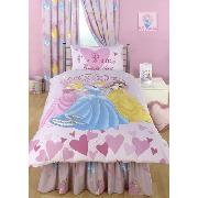 Disney Princess Valance Sheet Fitted 'Princess Every Day' Design