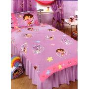 Dora the Explorer Duvet Cover and Pillowcase Swirl Design Bedding