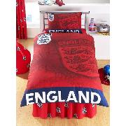 England Duvet Cover and Pillowcase 'Red 3 Lions' Design Bedding