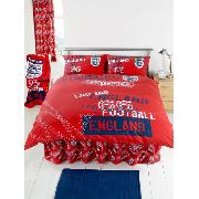 England Duvet Cover and Pillowcase 'Red 66' Design Double Size Bedding