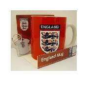 England Football Three Lions Crest Mug with Free Keyring