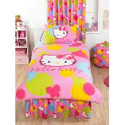 Hello Kitty Duvet Cover and Pillowcase Spot Design Bedding
