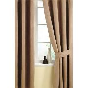 Luxury Faux Suede Curtains Caramel Design