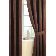 Luxury Faux Suede Curtains Chocolate Design