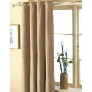 Luxury Faux Suede Curtains Natural Design