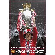 Manchester United Fc 'Rooney Celebration' Maxi Poster SP0434