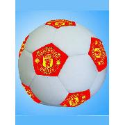 Manchester United Fc Football Shaped Cushion