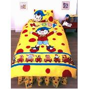 Noddy Duvet Cover and Pillowcase Train Design Bedding