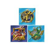 Power Rangers Wall Stickers Art Squares 3 Large Pieces Mystic Force Design