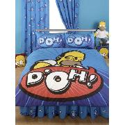 Simpsons Duvet and Pillowcase Homer 'Speech' Design Double Size Bedding