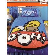 Simpsons Duvet Cover and Pillowcase Homer 'Speech' Design Bedding