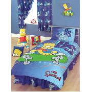 Simpsons Valance Sheet Bart 'Skate' Design Fitted - Great Low Price