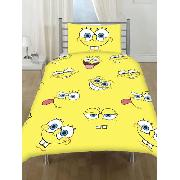 Spongebob Squarepants Duvet Cover and Pillowcase Expressions Bedding - Great Low Price