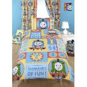 Thomas Duvet Cover and Pillowcase Ready Steady Go Design Bedding - Great Low Price