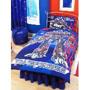 Transformers Duvet Cover and Pillowcase Reversible Kids Bedding