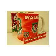 Welsh Football Dragon Crest Mug