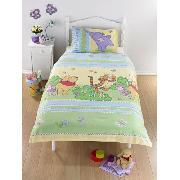 Winnie the Pooh Duvet Cover and Pillowcase 'Heffalump' Design Rotary Print Bedding