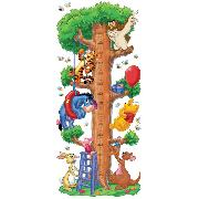 Winnie the Pooh Wall Sticker Height Growth Chart