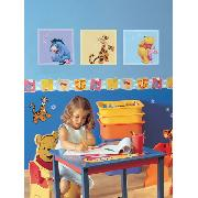 Winnie the Pooh Wall Stickers Art Squares 3 Large Pieces