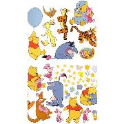 Winnie the Pooh Wall Stickers Stikarounds 46 Pieces
