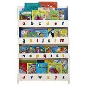 Tidy Books Children's Wooden Bookcase - White