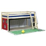 Wooden Mid Sleeper Bed Frame with Football Tent
