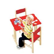 Wooden Table and 2 Chairs Set