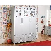 Locker Room 3-Door Plus 4-Drawer Wardrobe Robe