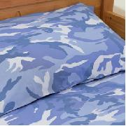Camo Duvet Cover Blue (Single)