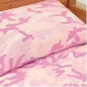 Camo Duvet Cover Single Pink