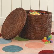 Chocolate Brown Storage Basket (With Removable Lid)