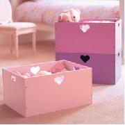 Stacking Heart Storage Boxes (Set of 3)