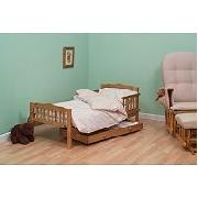 Saplings Junior Antique Bed and Foam Mattress