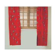 Arsenal Fc Pair of 66 x 54In Unlined Curtains - Red