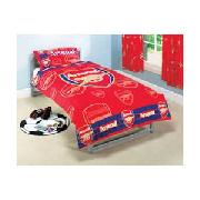 Arsenal Fc Single Duvet Cover Set - Red