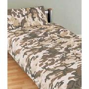 Camouflage Single Duvet Cover Set - Sand