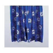 Chelsea Fc Pair of 66 x 54In Unlined Curtains - Blue