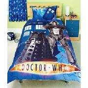 Dr Who Single Duvet Cover Set - Blue