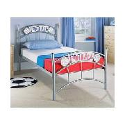 Footy Single Bedstead with Sprung Mattress