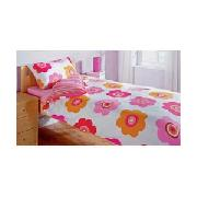 Funflower Single Duvet Cover Set - Pink