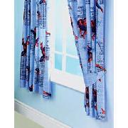 Spiderman 3 Gravity Pair of 66X54IN Curtains - Blue and Red