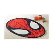 Spiderman Mask Rug - Black and Red