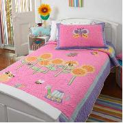 Freckles by Dorma - Butterfly Garden Bedspread Double Set