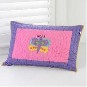 Freckles by Dorma - Butterfly Garden Standard Quilted Pillowcase